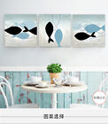Modern Art Home Deco Abstract Fish Picture Oil Painting Print On Canvas No Frame