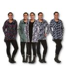 WOMENS PRINTED CAGOULE WATERPROOF LIGHTWEIGHT HOODED JACKET MAC RAIN COAT