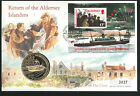 1995 Return to the Alderney Islanders - Coin FDC - £2 Coin & Guernsey Pmk