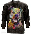 BEWARE OF PIT BULLS ADULT LONG SLEEVE TEE THE MOUNTAIN DEAN RUSSO