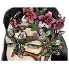 USA Made Handcrafted Leather Cherry Blossom Tree Mask Prom Fairy Dryad Costume