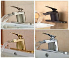 "Bathroom Waterfall Basin Sink Faucet Single Handle Mixer W/ 10"" Plate Deck Mount"