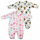 Baby Birds Flowers Puppy Dog Padded Sleepsuit Romper Newborn to 9 Months