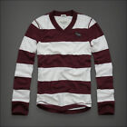 Abercrombie Fitch Men Sentinel Range Stripe Polo Rugby Long Sleeve Shirt Large