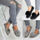 Kyпить New Womens Pom Pom Suede Style Loafers Brogue Flat Trainers Pumps Quality Shoes на еВаy.соm
