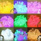 Waterproof 10M 100 LED Outdoor Fairy Crystal Ball String Light Lamp Christmas
