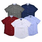 Tommy Hilfiger Buttondown Shirt Mens Short Sleeve Custom Fit Casual Collared New