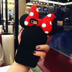 Unique BOW Disney Minnie Mouse Silicone Case for Apple iPhone7/7 Plus/6/6S/5/5S