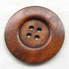 20pcs Large Size 6CM Brown Round Wood Buttons 4 Holes Craft Sewing Button T0930