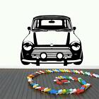 MINI FRONT WALL ART DECAL STICKER CHOOSE FROM 21 DIFFERENT COLOURS AND 3 SIZES