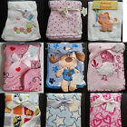 New Baby Blanket Boys Girls Unisex Blankets Pram Crib Moses - Choice of Design
