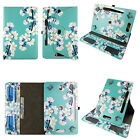"Universal 7"" Android Tablet Case 7 inch Folio syn Leather Rotating Cover pocket"