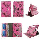 "Tablet 8"" Android Case 8 inch Universal Folio Stand Leather Rotate Pocket Cover"
