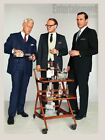 Tall Cocktails Glasses - Antique Cars,White Frost - Retro/Vintage 70's - Mad Men
