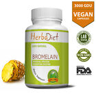High Potency Bromelain Capsules Pills 500mg Pineapple Extract Digestive Enzyme
