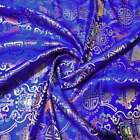 """Wholesale 10 Yards Br-625 Twins Fish BROCADE TAPESTRY FABRIC 36"""" W"""