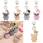Pendant Rhinestone key chain owl car key accessories tassel bag accessories K0E1