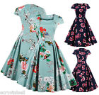 50S ROCKABILLY DRESS Vintage Retro Swing Pinup Cocktail Party PLUS SIZE