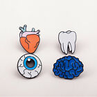 Distinctive Tooth Eye Heart Brain Organ Brooches Needle Dress Enamel Collar Pin