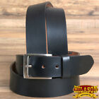 HILASON HANDMADE HEAVY DUTY WESTERN GENUINE LEATHER MENS DRESS BELT BLACK