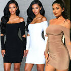 Women Bandage Bodycon Slim Sleeve Evening Party Cocktail Pencil Mini Dress CA