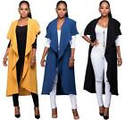 Fashion Women Kimono Jacket Cotton  Long Top Blouse Beach Cover Up Dress 3color