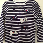 NEW Girls Gorgeous Bow Detail Striped Top Age 2-3, 3-4, 4-5, 5-6 Years *FREE P&P