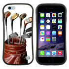 Anti-Shock Tpu Case Bumper Cover For Apple iPhone Vintage Golf clubs