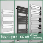 Designer Flat Panel Bathroom Heated Towel Rail Radiator Anthracite Chrome White