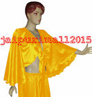 Yellow Satin Flair Wrap Top Tie Belly Dance Top Choli Gypsy Blouse Tribal Haut