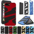 Silicone Rubber+PC 2 in 1 Shockproof  Cover Case For iPhone 5 6s  7 Plus