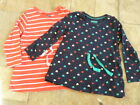 New Girls Dress Tunic 12-24 mths 4-6 yrs Cotton Jersey Red or Blue
