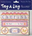 Precision Die Cuts Carolees Creations TING A LING Laser Stick Ons NIP RETIRED