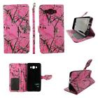 Folio Wallet Case For Samsung Galaxy J7 Split Leather Card ID Slots Cover