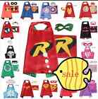 Superhero Cape (1 cape+1 mask) for kids birthday party favors and ideas~~cosplay