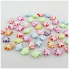 100PCS MULTI - COLOURED ACRYLIC BEADS WITH FISH BEAR BUTTERFILY TURTLE DESIGN