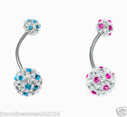 Shamballa Rhinetones belly button rings/belly piercing/navel bars/body jewellry