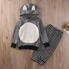 Baby Boys Girls Kids Winter Xmas Gift Clothes T-shirt Top+Long Pants Outfit Sets