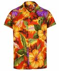 MENS HAWAIIAN SHIRT HIBISCUS THEMED PARTY HOLIDAY BEACH FANCY DRESS STAG DO