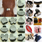 UP Women Girls Crystal Plastic Hair Clip Clips Claw Comb Accessories Headwear