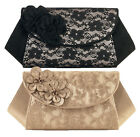 NEW Ruby Shoo Lace Dubai Clutch Bag Black Champagne / Gold Glamorous ( Elsy )