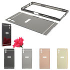 For Sony Xperia XZ Slim Thin Mirror Acrylic Back Cover Metal Aluminum Frame Case