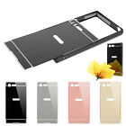 For Sony Xperia X Compact Slim Thin Mirror Back Cover Metal Aluminum Frame Case
