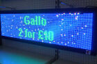 LED SIGN PROGRAMMABLE DISPLAY  Full True Color - 137 x 41 cm - USB - TOP QUALITY