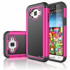 For Samsung Galaxy Sky 2016 / J3 V PC Shockproof Rugged Rubber Hard Case Cover