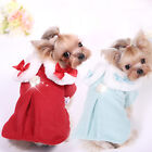 Charming Pet Dog Coat Clothes Winter Fur Collar Pearl Yorkie Puppy Apparel Wool
