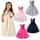 Flower Girl Baby Sequins Princess Dress Party Wedding Formal Dresses US Stock