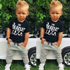 USA 1-6T Baby Boy Clothing Set The Beatles Letters Outfits t shirt+long pants