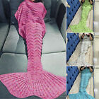 US Mermaid Tail Fish Scale Soft Handmade Knitted Lapghan Blankets 2016 Xmas Gift