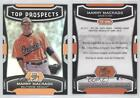 2012 Bowman Platinum Top Prospects #TP-MM Manny Machado Baltimore Orioles Card
